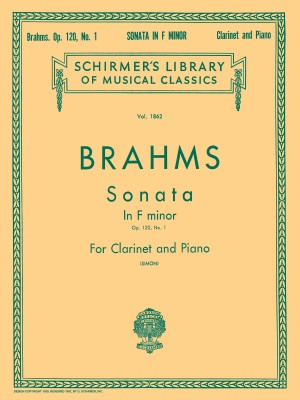 Johannes Brahms: Sonata For Clarinet And Piano In F Minor Op.120 No.1 Product Image