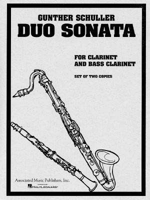Gunther Schuller: Duo Sonata For Clarinet And Bass Clarinet