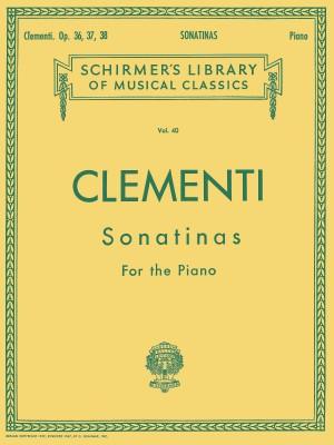 Muzio Clementi: 12 Sonatinas, Op. 36, 37, 38