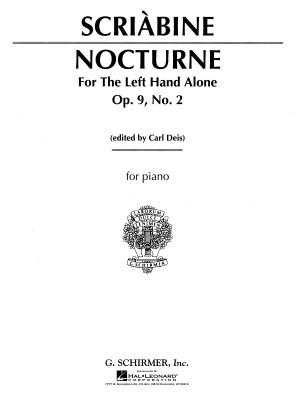 Alexander Scriabin: Nocturne For The Left Hand Op.9 No.2