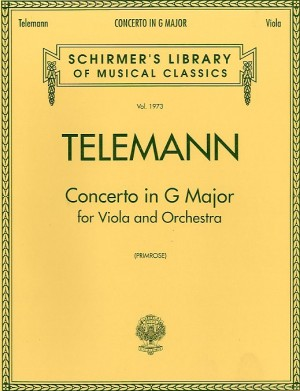 George Philipp Telemann: Concerto In G Major For Viola