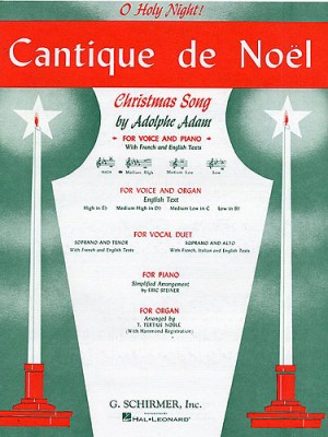 Adolphe Adam: Cantique De Noel (O Holy Night) For Medium High Voice And Organ In D Flat