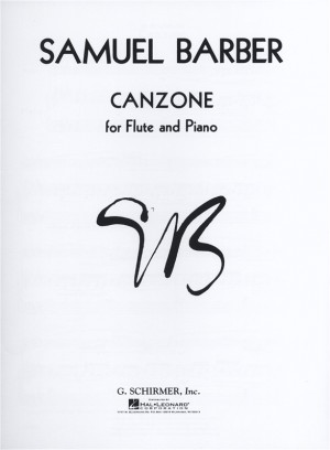 Samuel Barber: Canzone Product Image