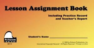 John W. Schaum: Schaum Lesson Assignment Book