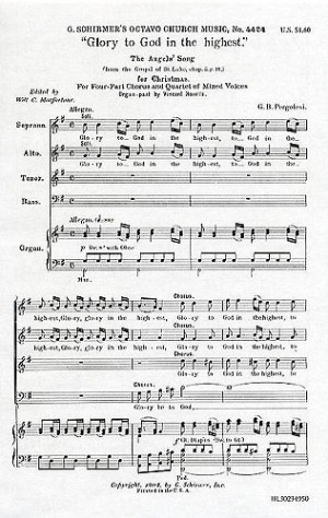 Giovanni Pergolesi: Glory To God In The Highest (The Angels' Song)