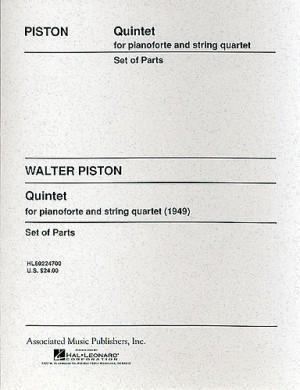 Walter Piston: Piano Quintet (Score/Parts)
