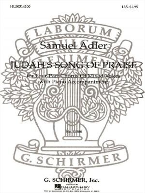 Samuel Adler: Judah's Song Of Praise