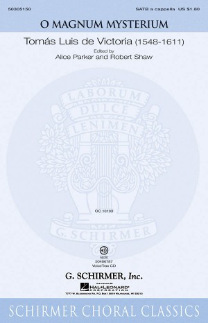 Tomas Luis De Victoria: O Magnum Mysterium (SATB)