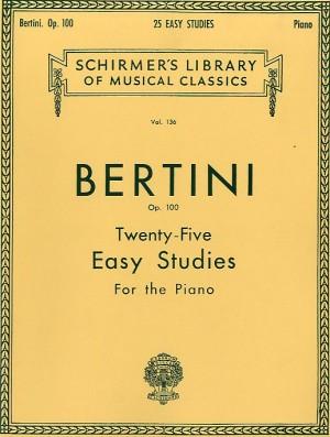 Henri Bertini: Twenty-Five Easy Studies For Piano Op. 100