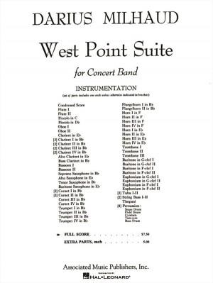 Darius Milhaud: West Point Suite - Full Score