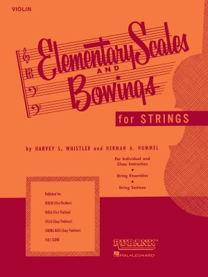 Harvey S. Whistler_Herman Hummel: Elementary scales and Bowings-violin