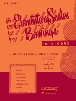 Harvey S. Whistler_Herman Hummel: Elementary Scales and Bowingsn