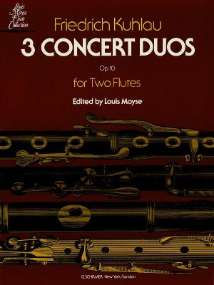 Freidrich Kuhlau: Three Concert Duos For Two Flutes Op.10