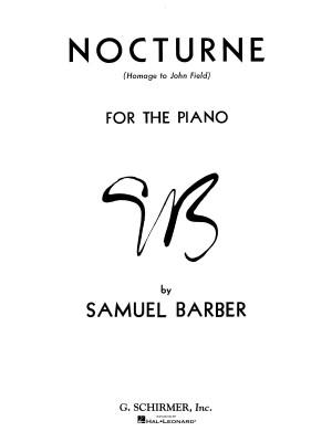 Samuel Barber: Nocturne Product Image