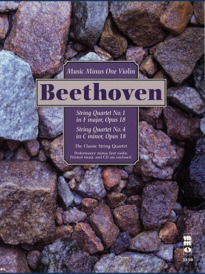 Music Minus One - Ludwig Van Beethoven: String Quartets Op.18 No.1 In F And No.4 In C Minor