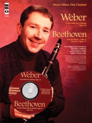 Music Minus One - Carl Maria Von Weber: Concertino Op.26&#x3B; Ludwig Van Beethoven: Piano Trio No.4 Op.11
