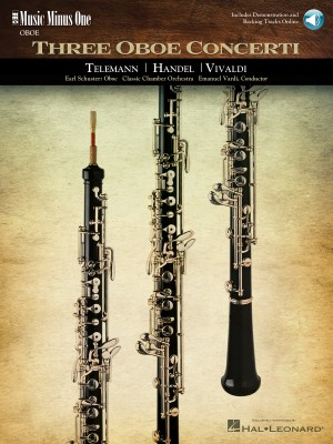 Music Minus One - 'Oboe Concerti' Telemann: F Minor&#x3B; Handel: No.8 In B-flat Major&#x3B; Vivaldi: D Minor Product Image