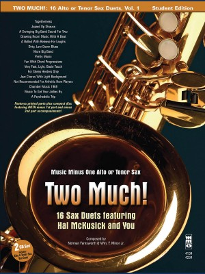 Music Minus One - Two Much! 16 Duets for Saxophone