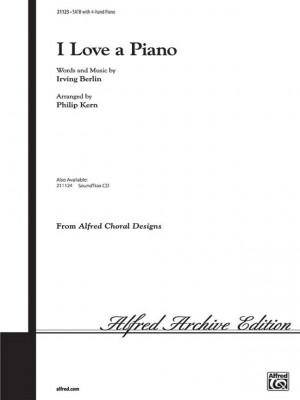 Irving Berlin: I Love a Piano SATB