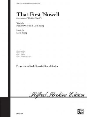 Don Besig/Nancy Price: That First Nowell SAB