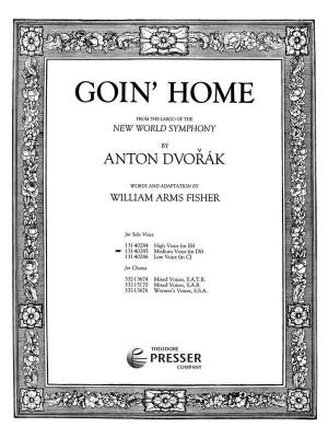 Dvorák: Goin' Home (med) in D flat major