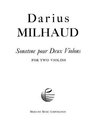 Milhaud: Sonatine Op.221