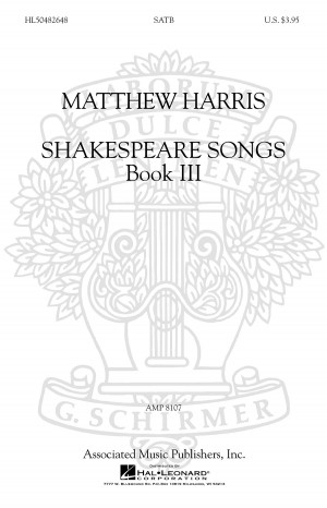Matthew Harris: Shakespeare Songs Book 3 Product Image