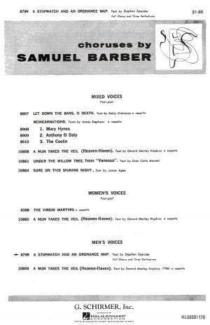 Samuel Barber: A Stopwatch And An Ordnance Map