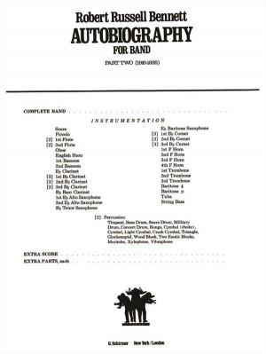 Robert Russell Bennett: Autobiography For Band - Part 2 (1916-1935)