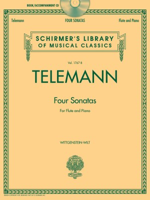 G.P. Telemann: Four Sonatas For Flute And Piano (Book/CD)
