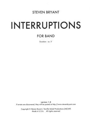 Bryant, Steven: Interruptions