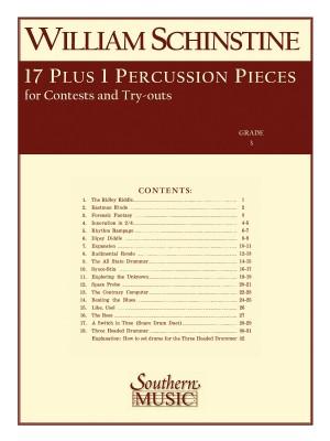 William J. Schinstine: 17 + 1 Percussion Pieces