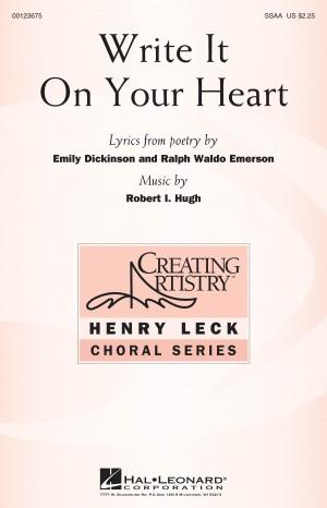 Robert I. Hugh: Write It On Your Heart