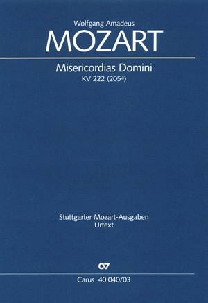 Mozart: Misericordias Domini (KV 222 (205a); d-Moll)