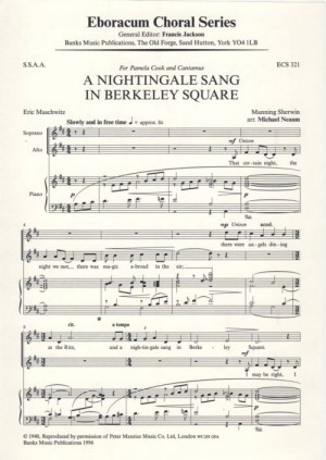 Sherwin: Nightingale Sang In Berkeley Square, A