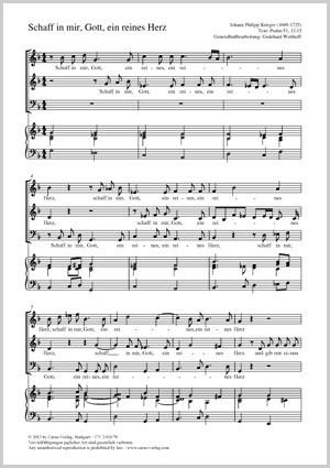 Krieger, Johann Philipp: Schaff in mir, Gott, ein reines Herz