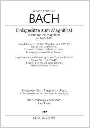 Bach, JS: Einlagesätze zum Magnificat aus BWV243a