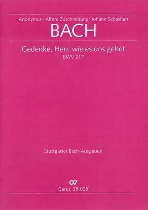 Bach, JS: Gedenke, Herr, wie es uns gehet