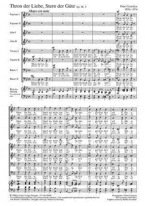 Cornelius: Thron der Liebe (Op.18, no. 3; B-Dur)