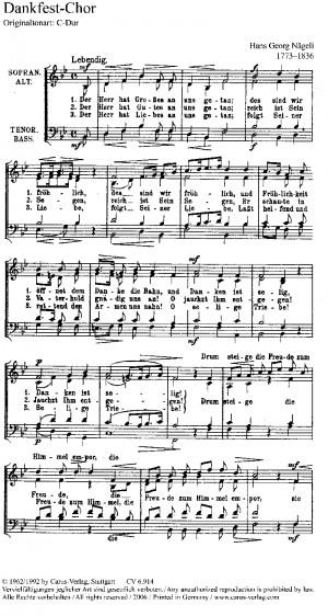 Zwei Divertimenti H.G Nägeli für Flöte und Klavier