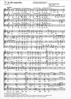 Reissiger: In die angustiae (Op.210 no. 7; d-Moll)
