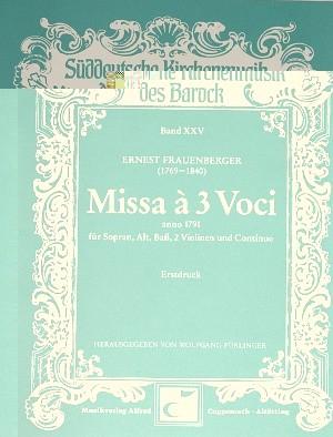 Frauenberger: Missa a 3 Voci