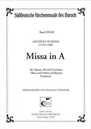 Schenk: Missa in A (A-Dur)