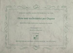 Albrechtsberger: Octo toni ecclesiastici per Organo