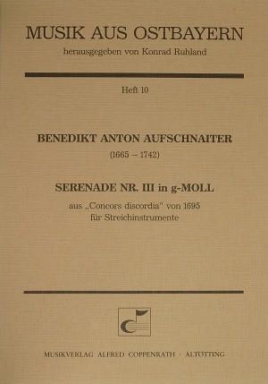 Aufschnaiter: Serenade Nr. III in g-Moll (g-Moll)