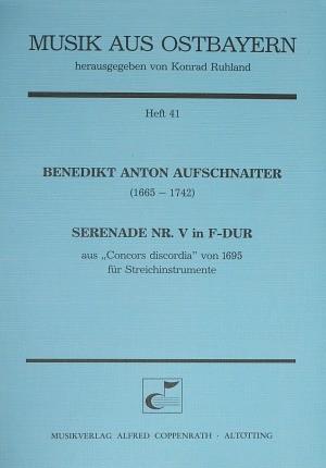 Aufschnaiter: Serenade Nr. V in F-Dur (F-Dur)