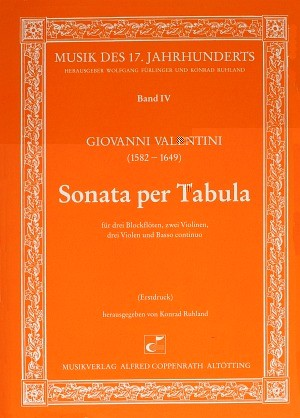 Valentini: Sonata per Tabula