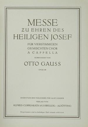 Gauß: Messe zu Ehren des heiligen Josef (Op.140; G-Dur)