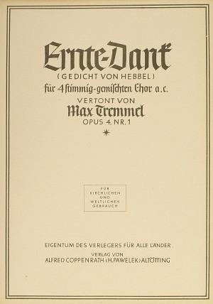Tremmel: Ernte-Dank ( 4 no. 1; A-Dur)