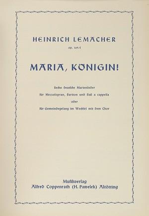 Lemacher: Sechs deutsche Marienlieder